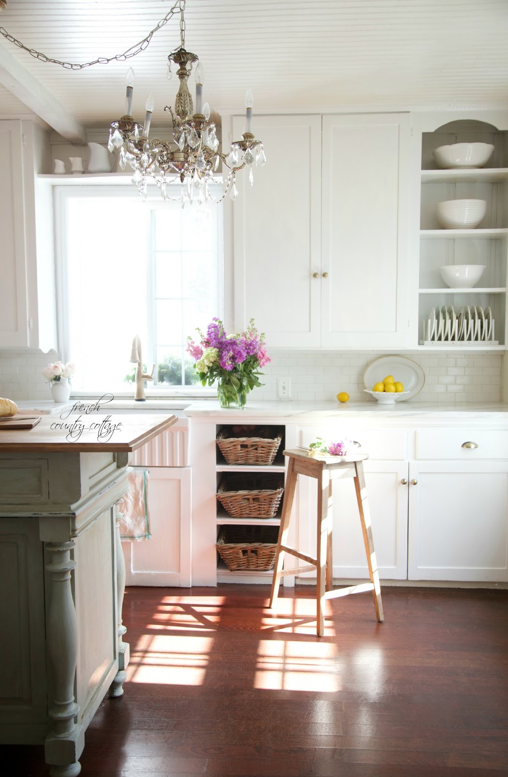 California french country style cottage house tour for Cal s country kitchen