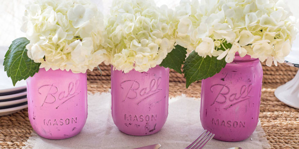 Diy Painted Mason Jars Darby Smart Decorating Ideas