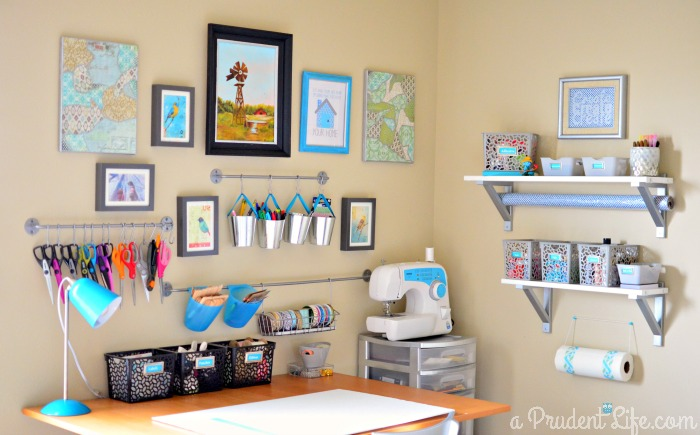 Inspiring craft room storage ideas craft room for Craft ideas for living room