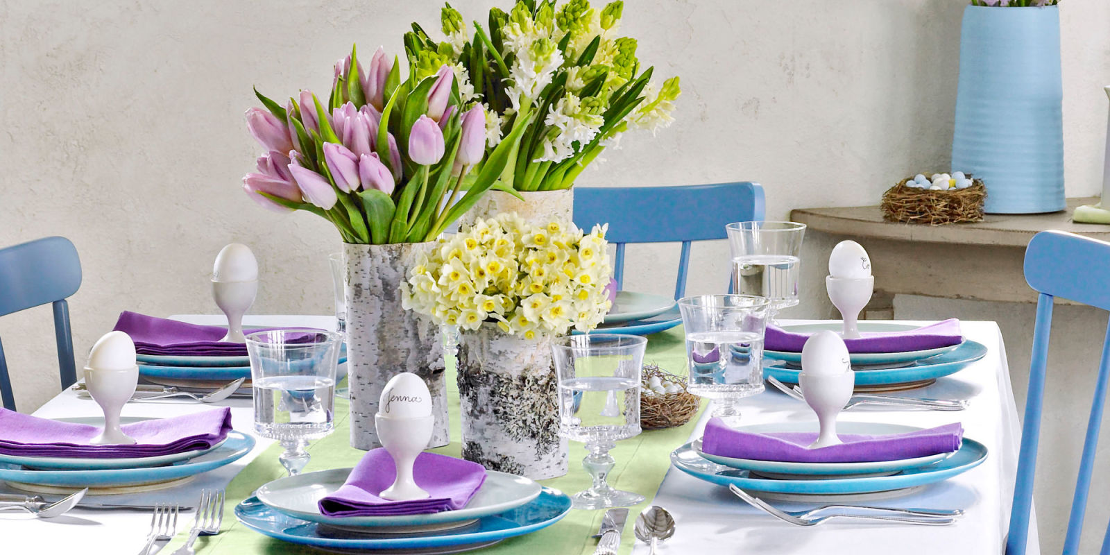 Easter Decor, Tablescape, Table Setting, Holiday Table Setting, Easter Table  Decor,
