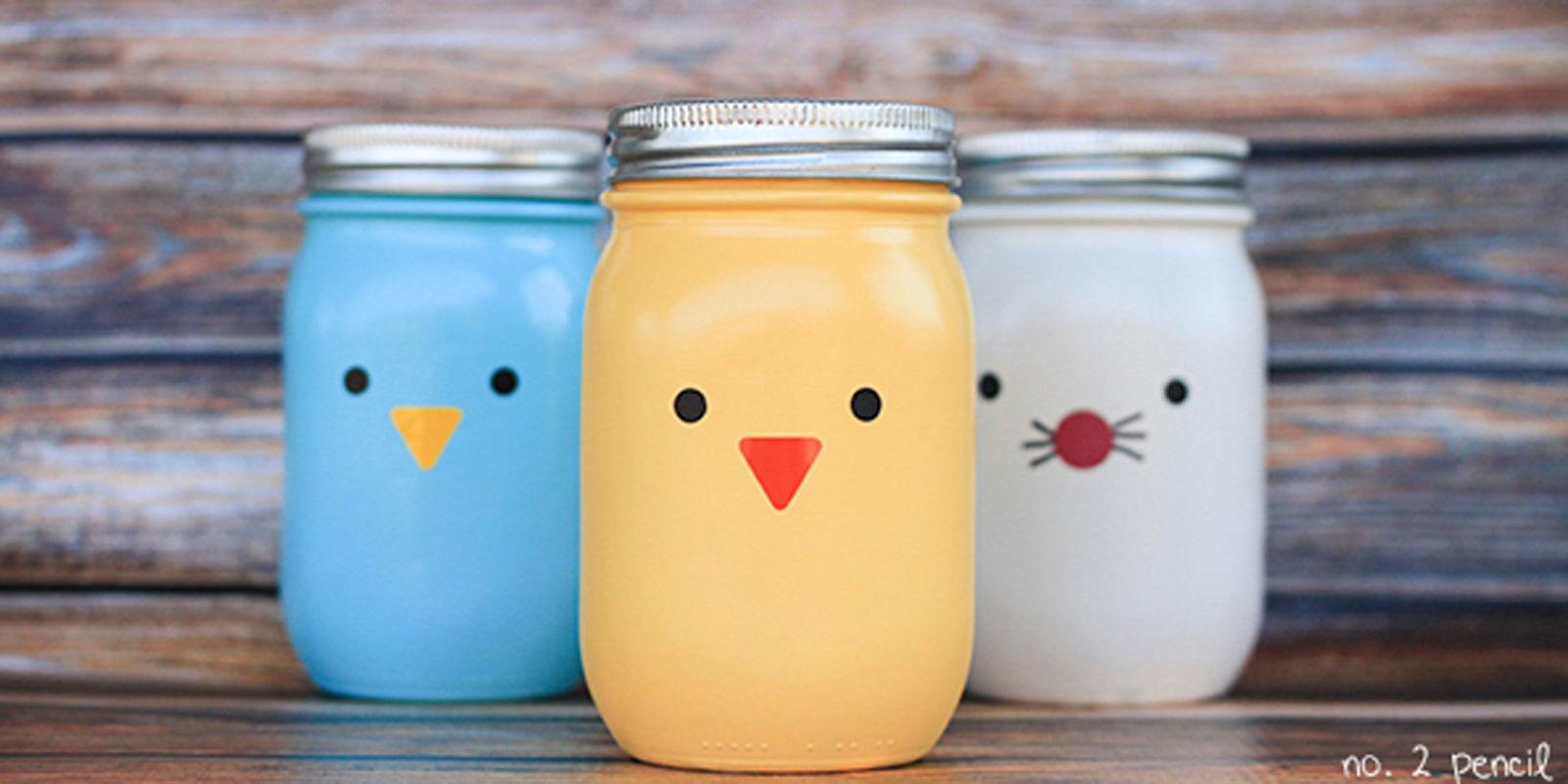 Easter mason jars spring mason jar craft ideas for Crafts using mason jars