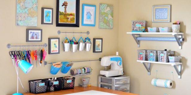 Home Craft Room: Inspiring Craft Room Storage Ideas