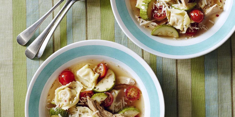 homemade chicken tortellini soup recipe