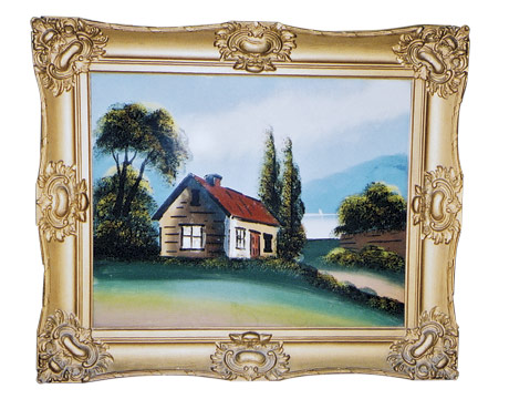 i think my painting was executed on glass 20w x 16h does the painting have value is the frame the paintings original frame