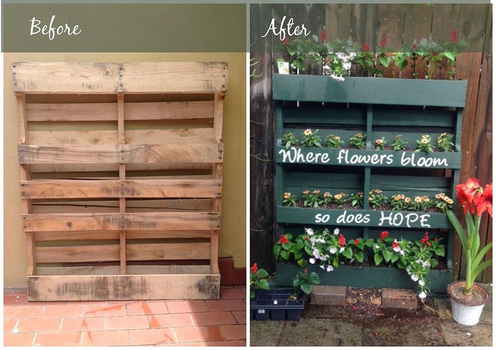 Garden Ideas Pallets: How To Turn A Shipping Pallet Into A Vertical Garden