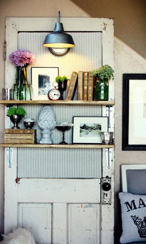 Bookshelf & Repurposed Door Crafts - Easy Craft Ideas pezcame.com