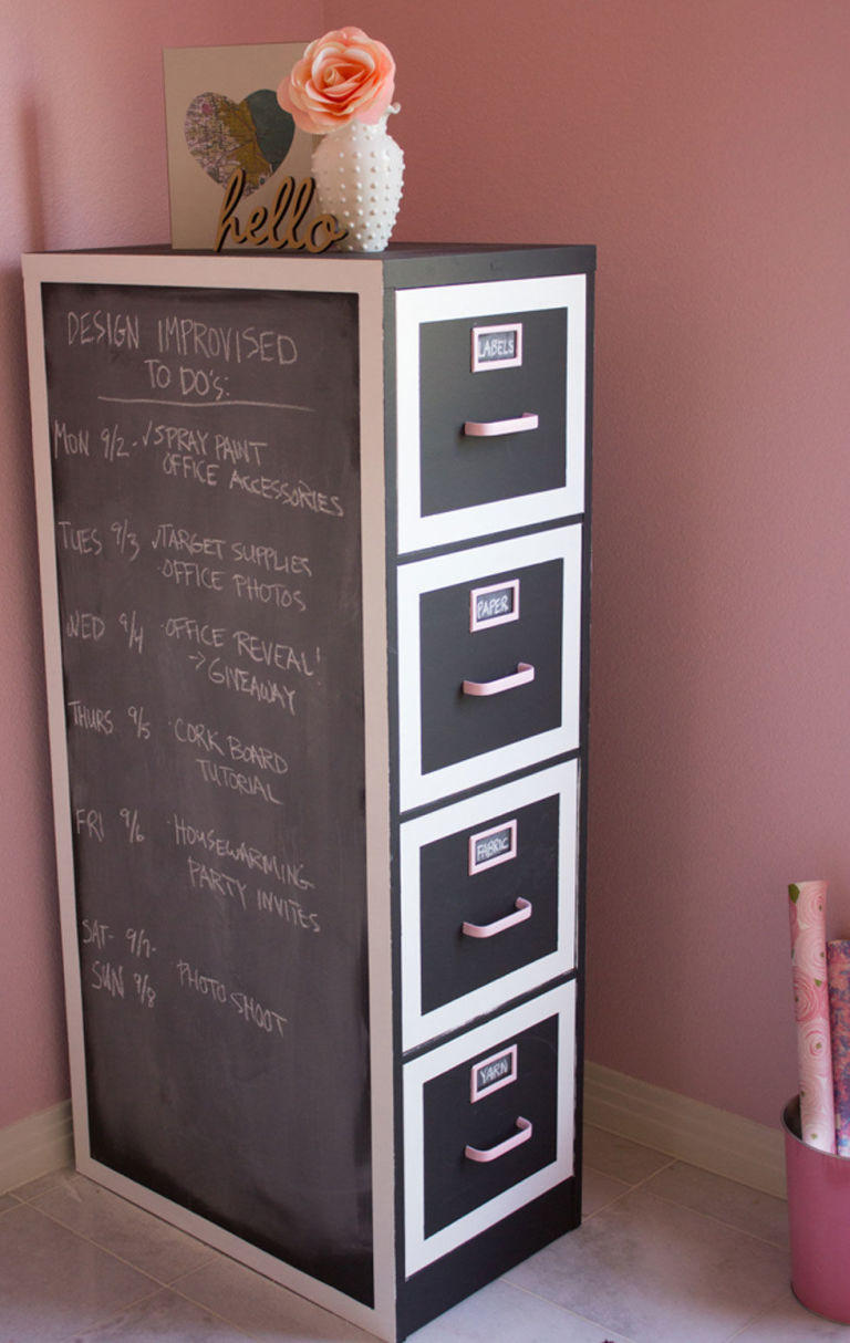 before and after see this file cabinet go from blah to adorable - Cabinet Idea