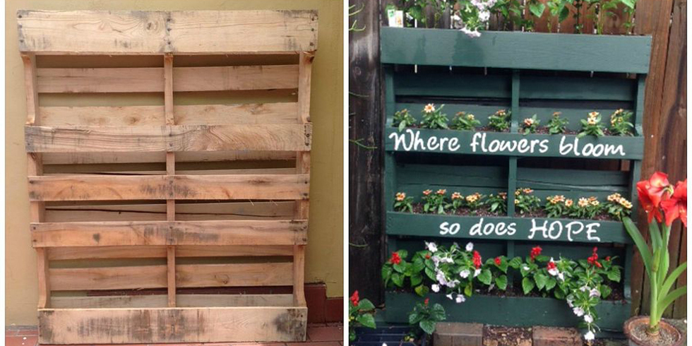 How To Turn A Shipping Pallet Into Vertical Garden DIY