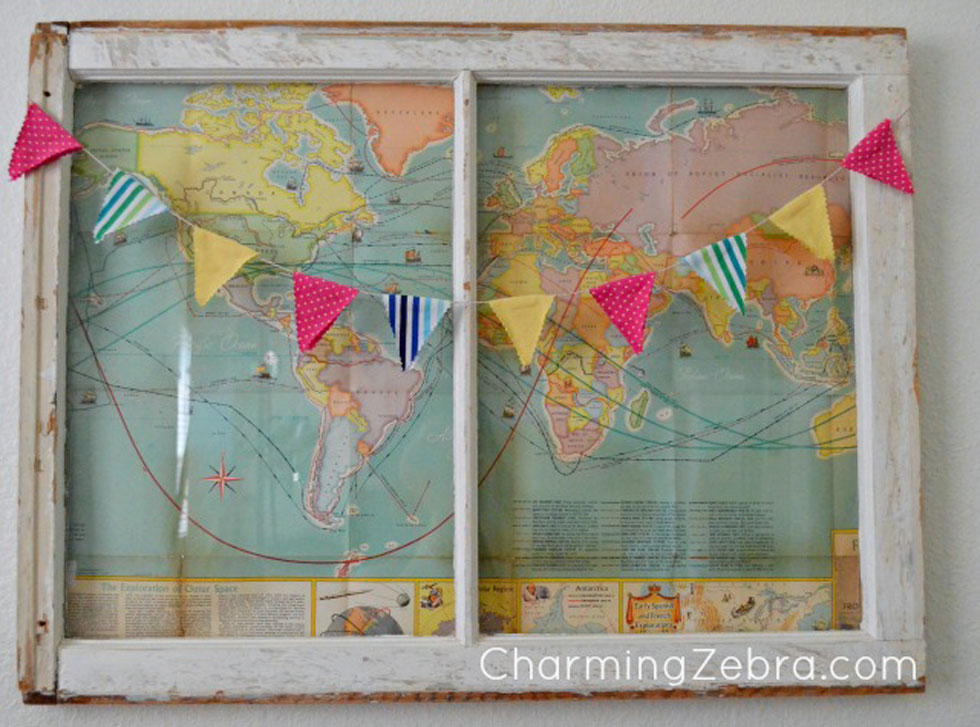 Old window frames easy craft ideas for Old window craft ideas