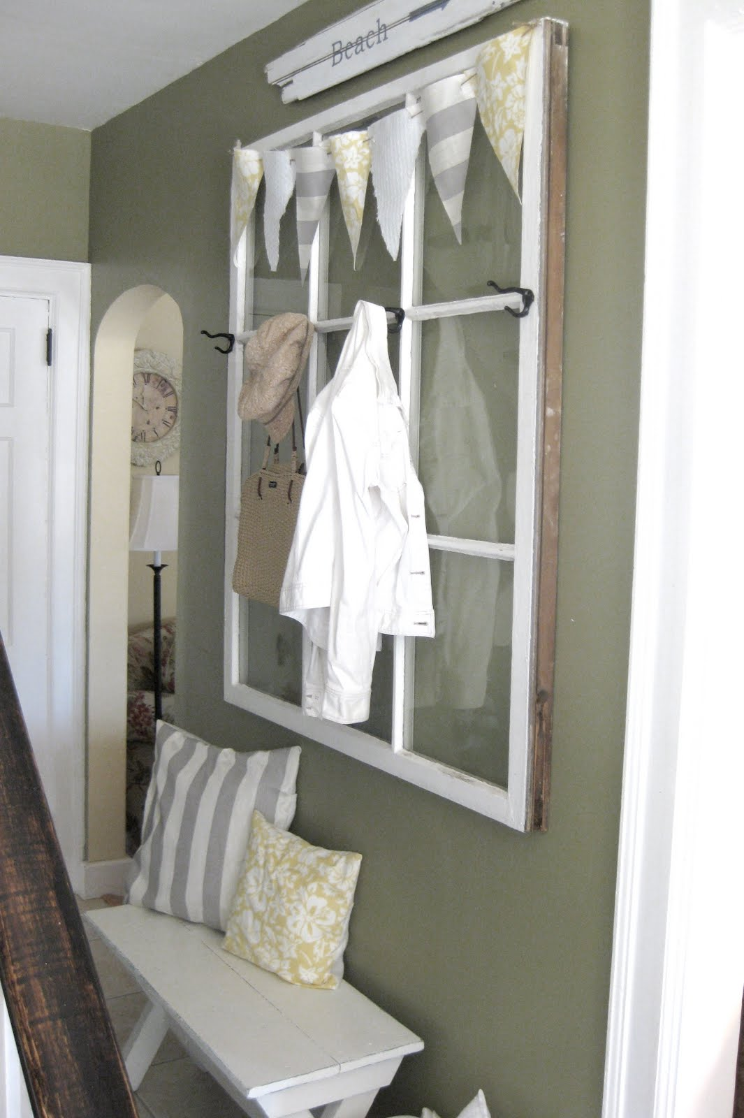 Window Frame Wall Decor old window frames - easy craft ideas