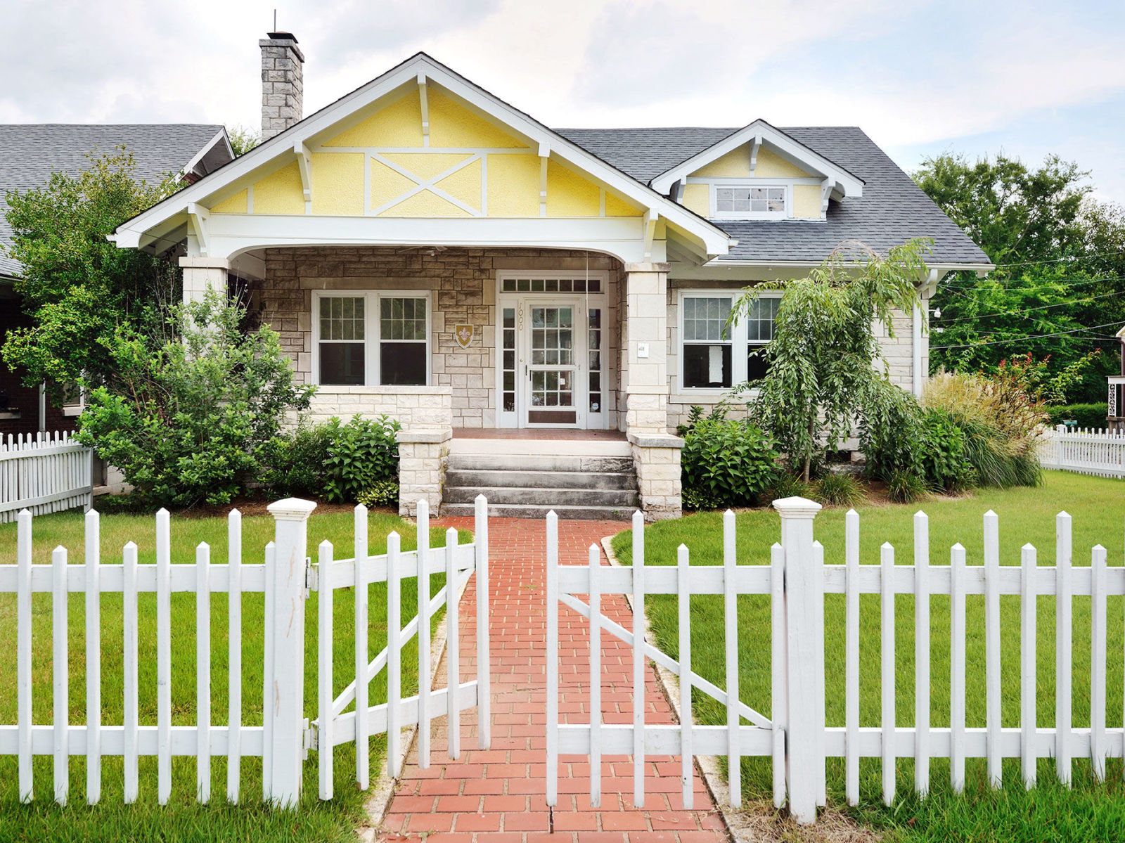 House with white picket fence