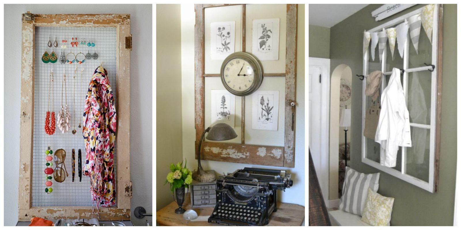Old Window Frames - Easy Craft Ideas