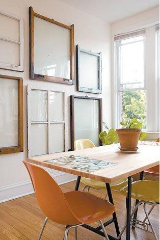 old window frames easy craft ideas. Black Bedroom Furniture Sets. Home Design Ideas