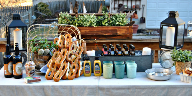 How to DIY a Backyard Beer Garden Party for Oktoberfest Outdoor