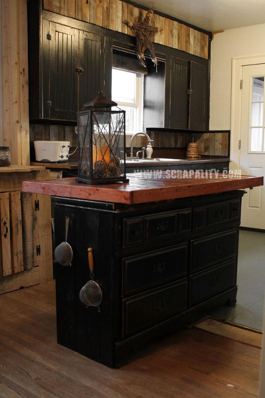 Pallets Kitchen Island Thrifted Dresser