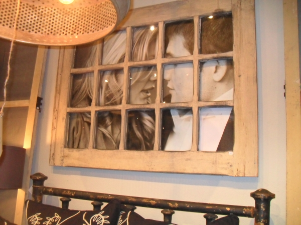 Window Frame Wall Art old window frames - easy craft ideas