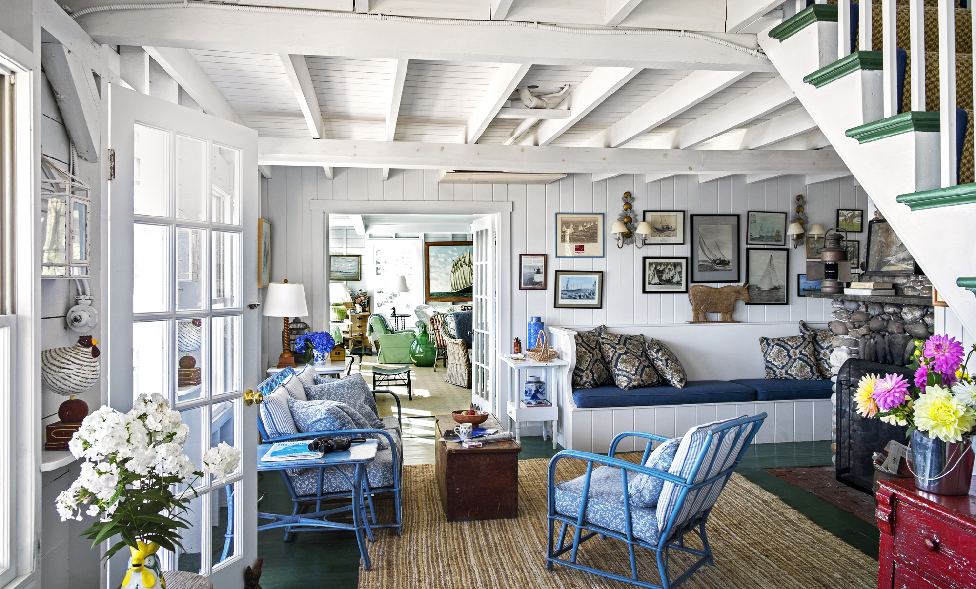 Inside a classic maine cottage that 39 s more than 100 years old Benjamin moore country green