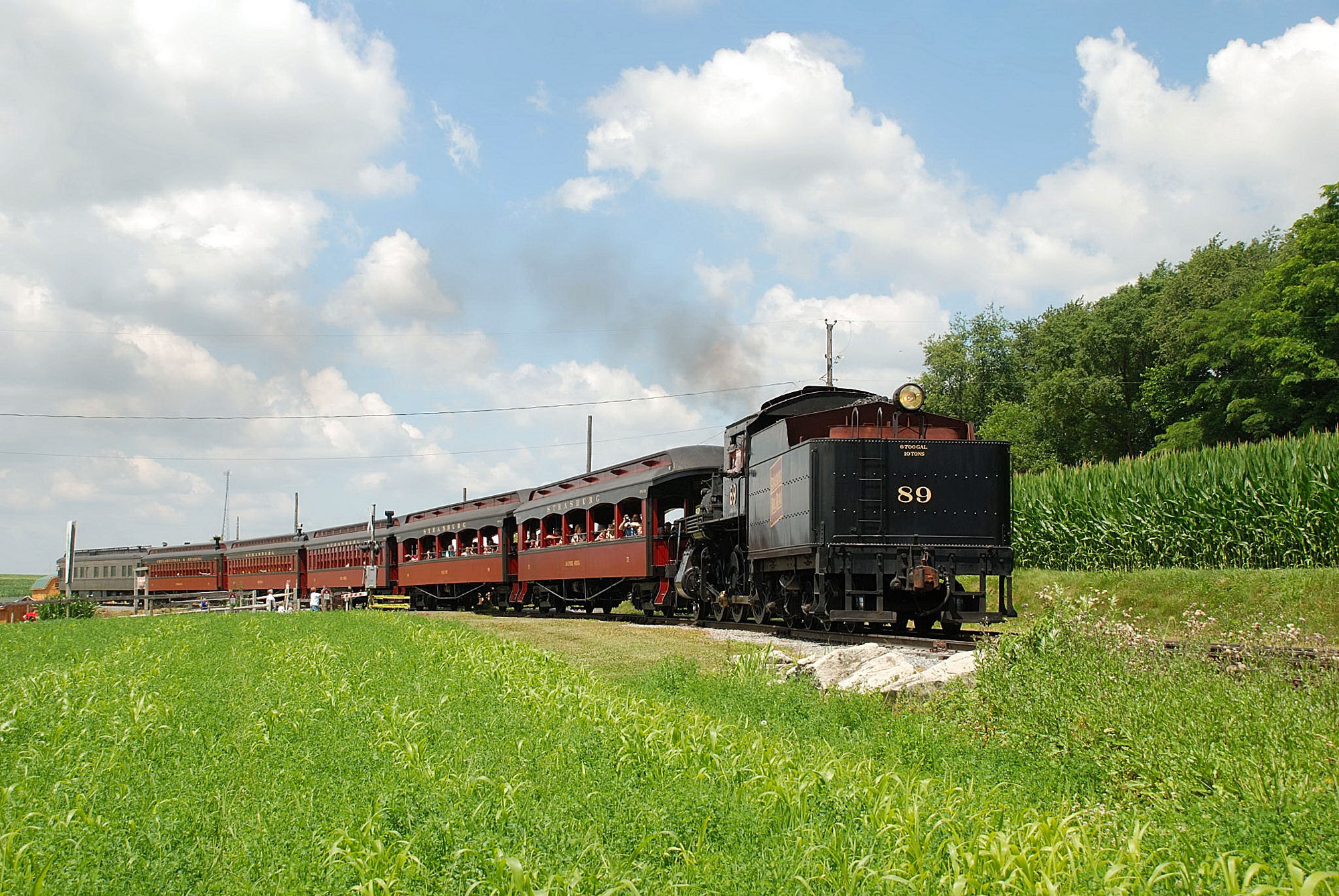 What are some scenic routes for train excursions?