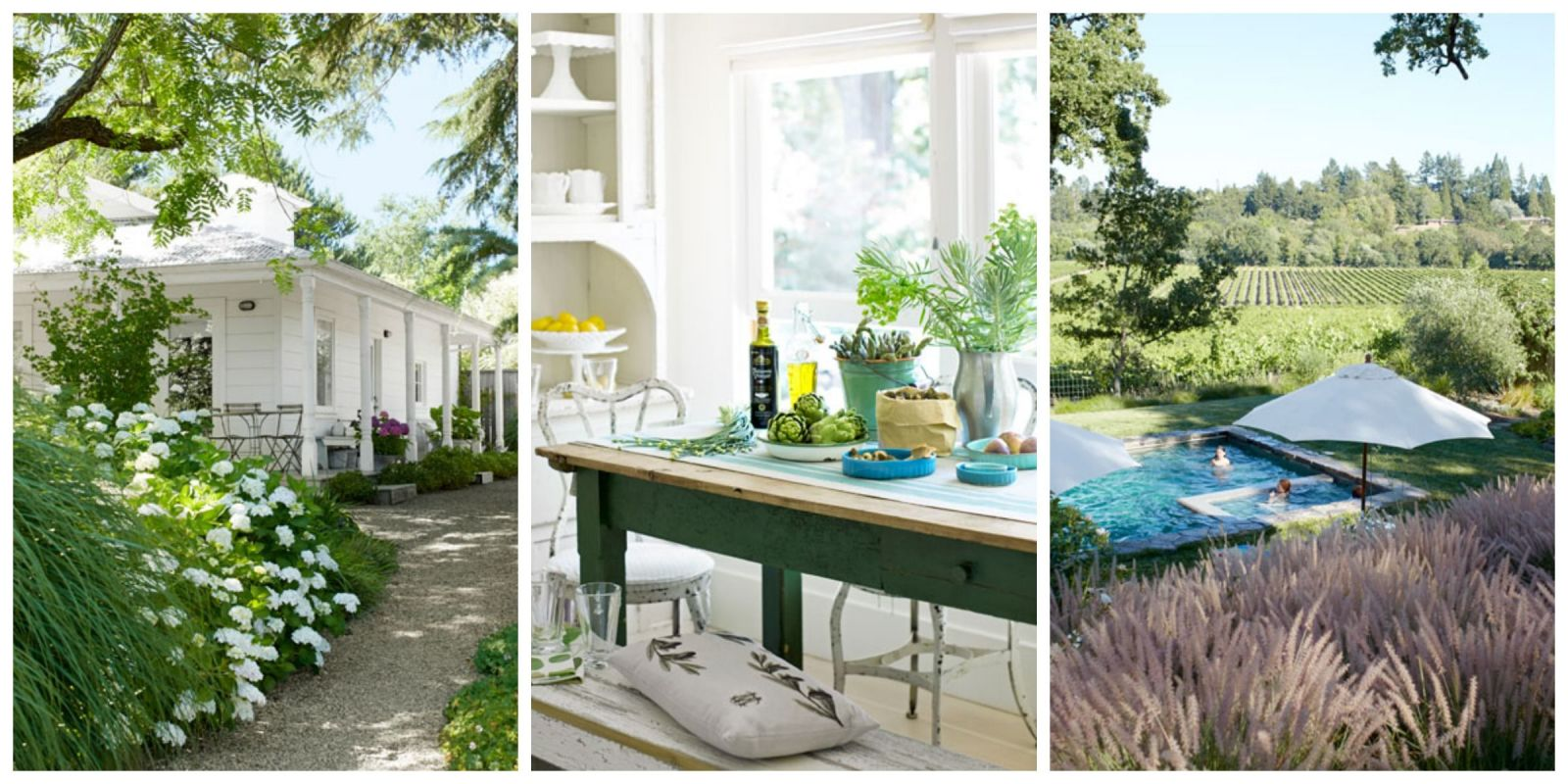 northern california farmhouse and garden - farmhouse decorating
