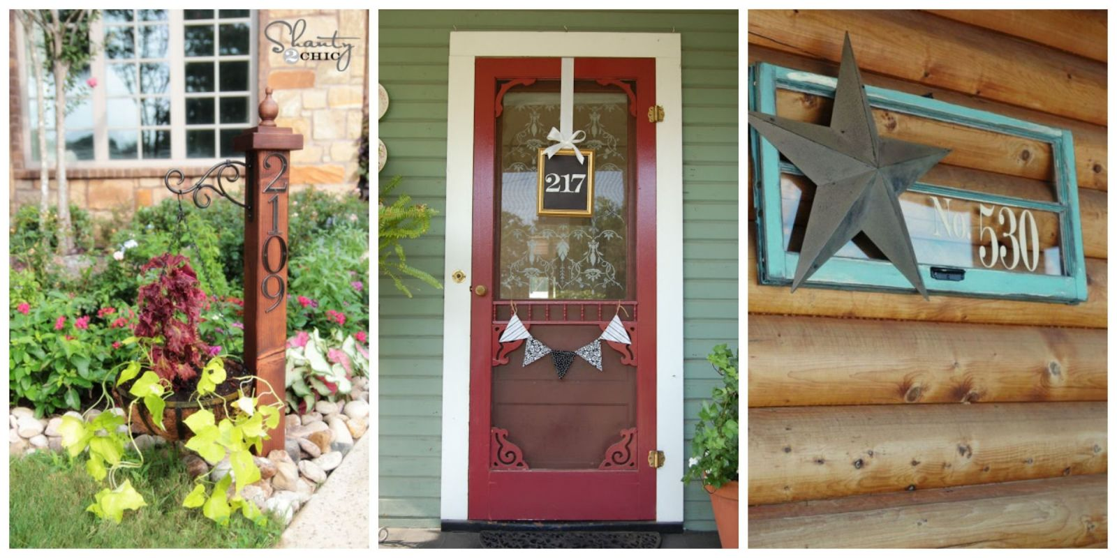 12 diy house number ideas cool house numbers you can make - House number plaque ideas ...