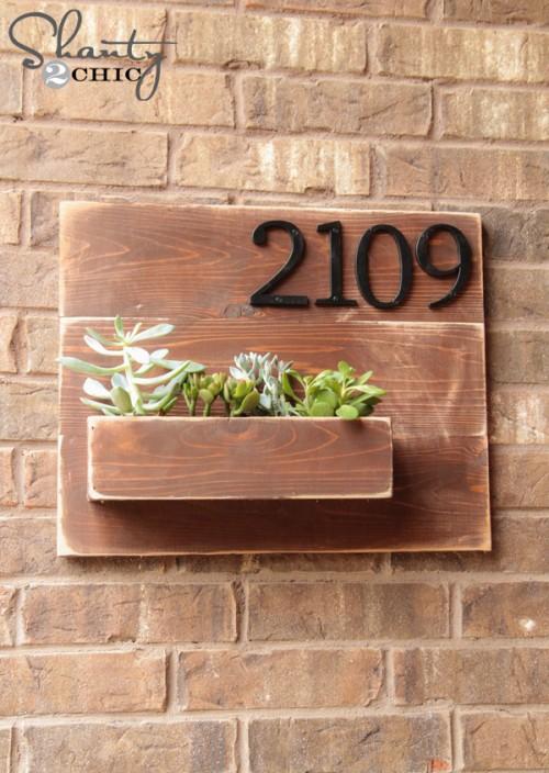 Diy house address plaque