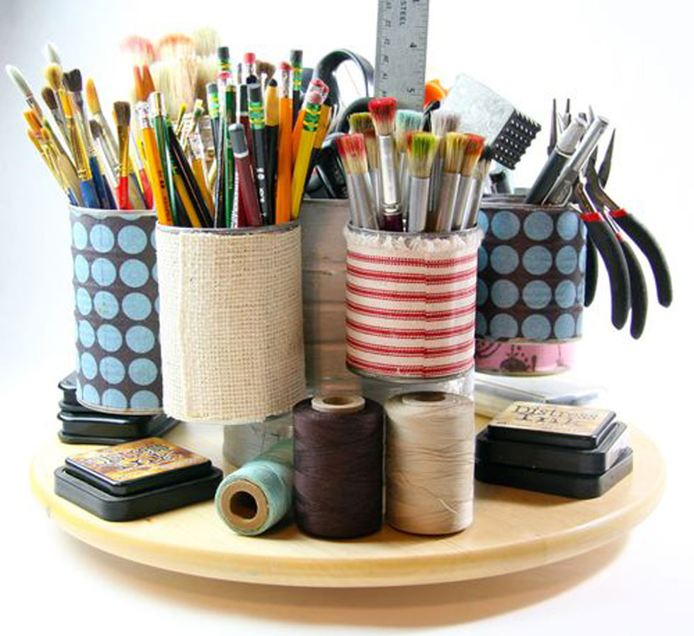 Tin can crafts arts and crafts ideas for Recycling organization ideas