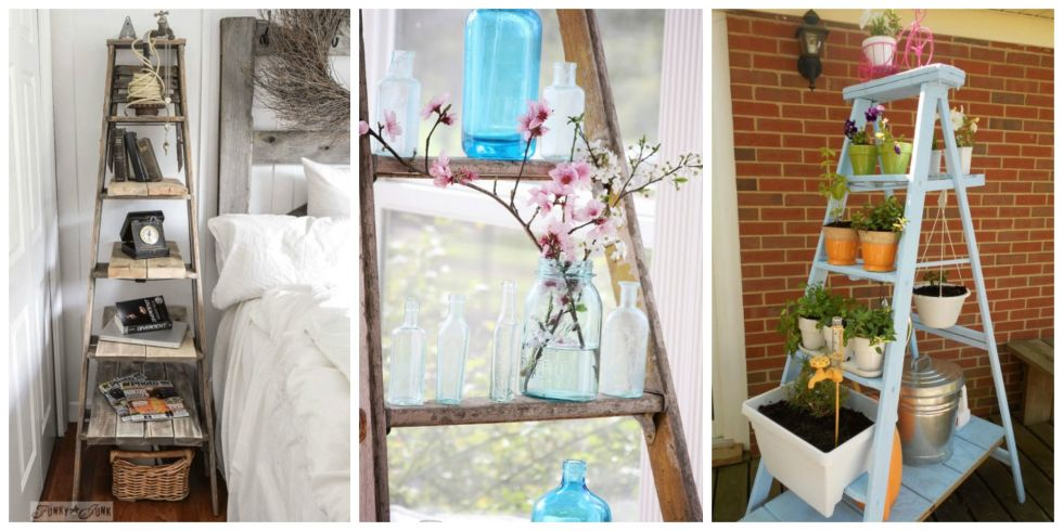 11 Cute And Creative Ways To Repurpose An Old Ladder
