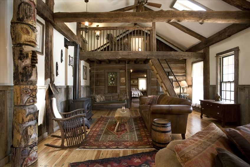 Homeaway log cabin rustic decorating ideas - Cool log home interior designs guide ...