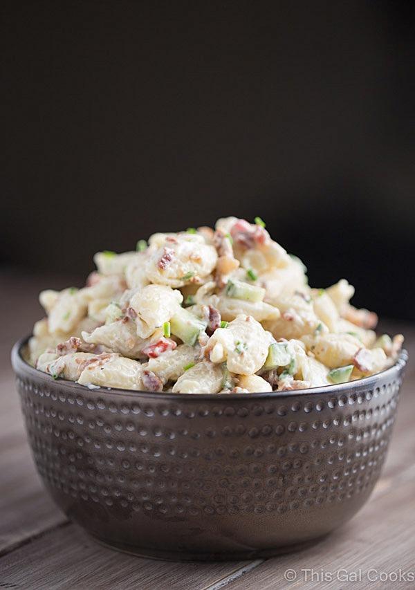 Easy creamy seafood pasta salad recipe