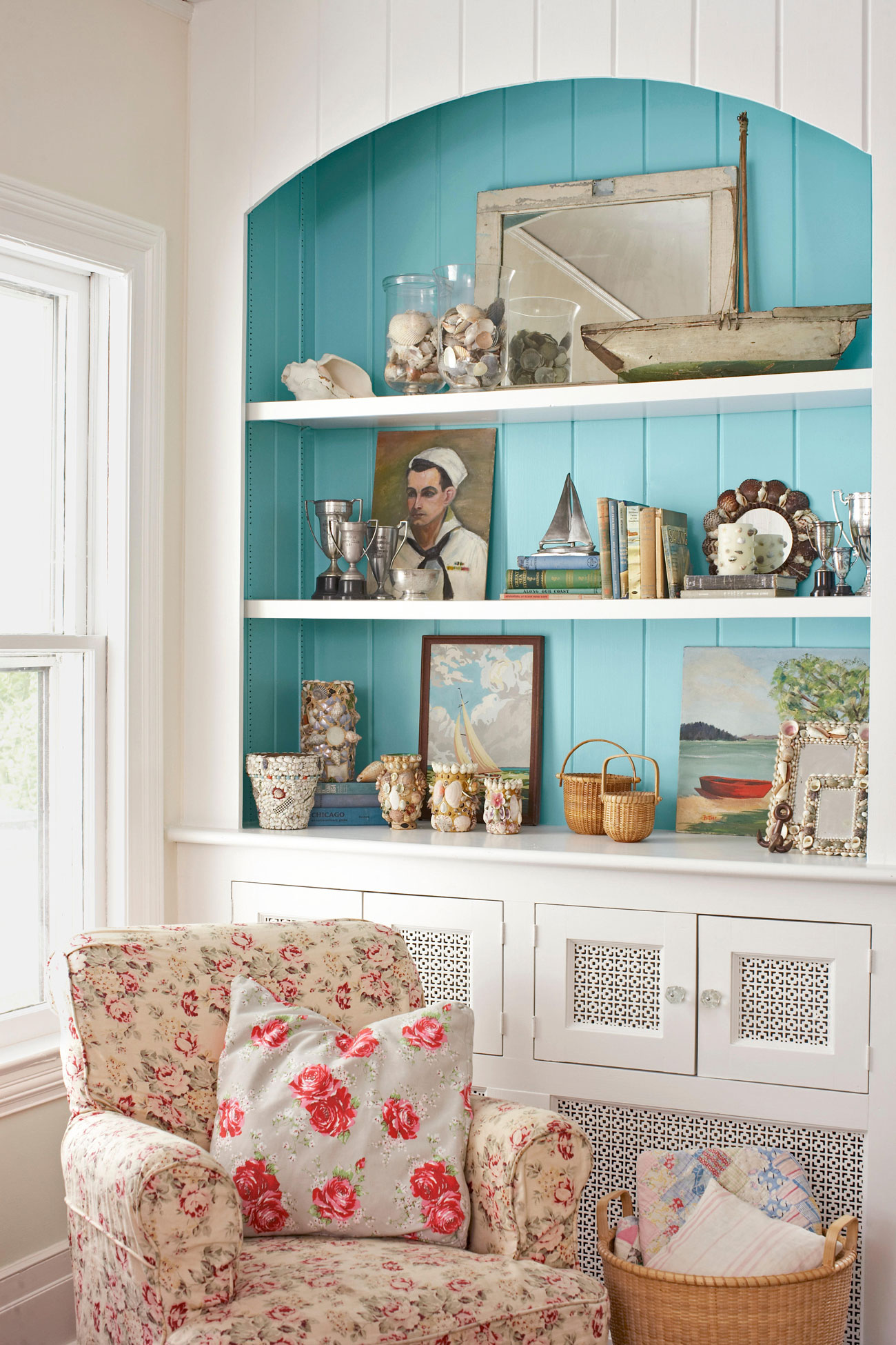 you need not always go overboard with the coastal theme. find this