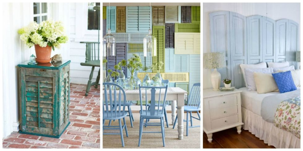 11 repurposed shutter crafts recycled craft ideas - Shutter Designs Ideas