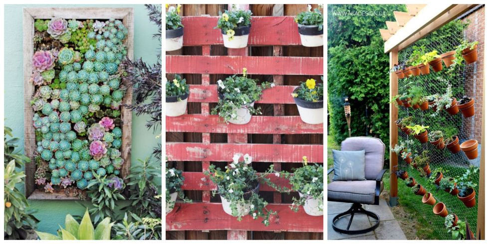 as long as youve got a blank wall or a bare fence you can tend edibles annuals even perennials with these vertical gardening ideas