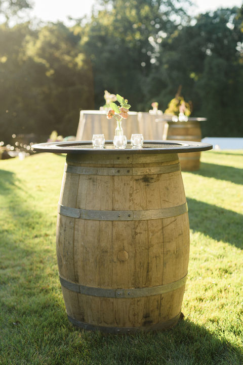 Diy Backyard Wedding Ideas diy backyard wedding ideas Turn Barrels Into Tables