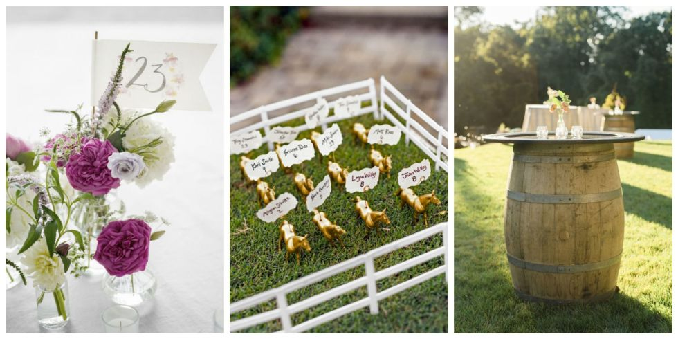 Ask family and friends for help to create DIY decorations. They add personal touch to your big day.