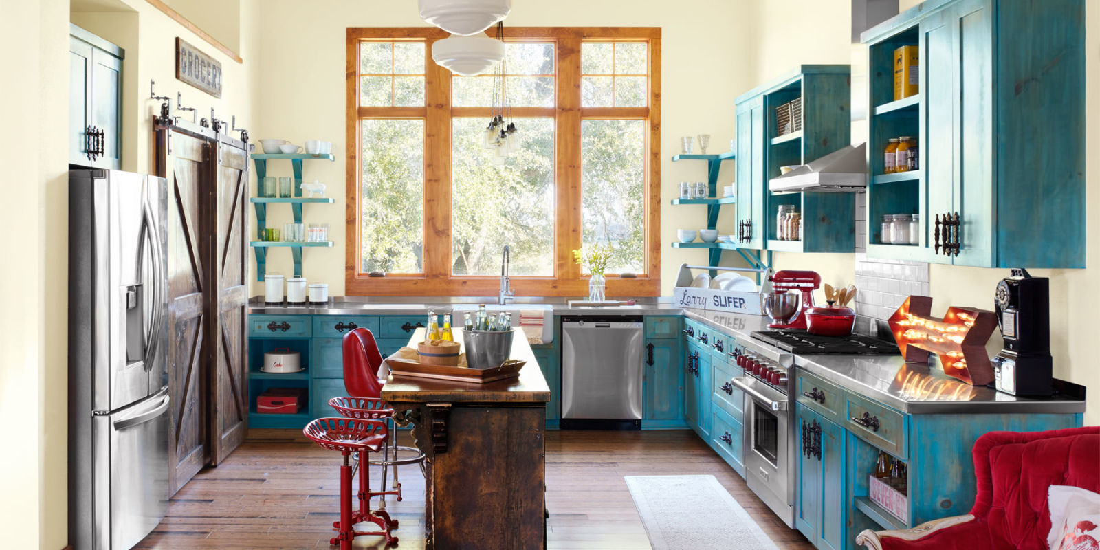 Ways To Add Colorful Vintage Style To Your Kitchen Junk - Home decoration design pictures