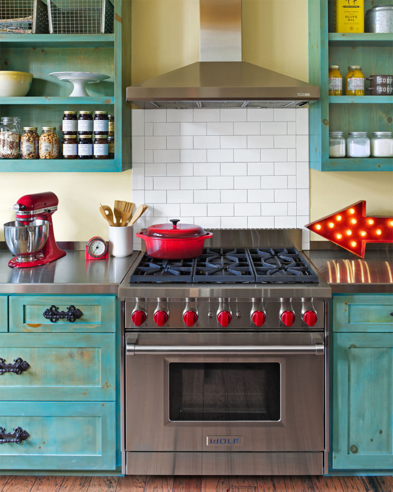 10 ways to add colorful vintage style to your kitchen - junk