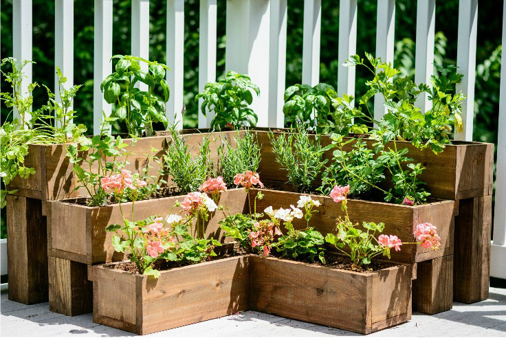 6 tiered planters - Garden Ideas In Small Spaces