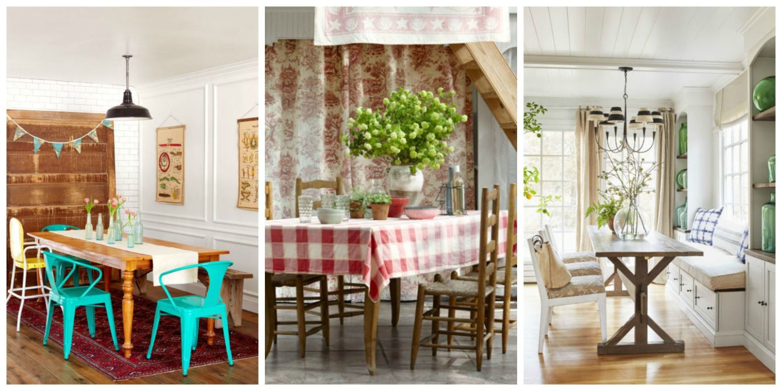 85 best dining room decorating ideas country dining room for Images of decorated dining rooms