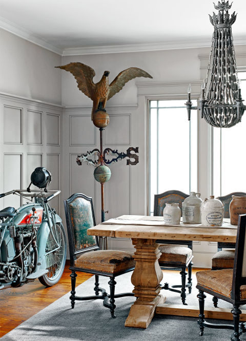Mike Wolfe's vintage-inspired home is chock-full of finds from his picks. The weather vane came from an attic in a sixth-generation-owned home in Pennsylvania.<br />