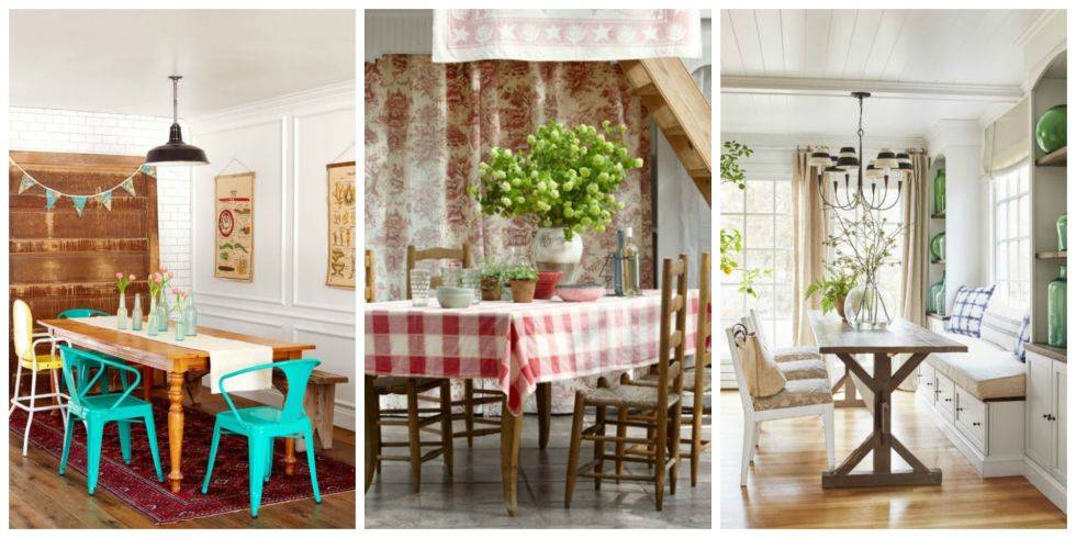- 85 Best Dining Room Decorating Ideas - Country Dining Room Decor