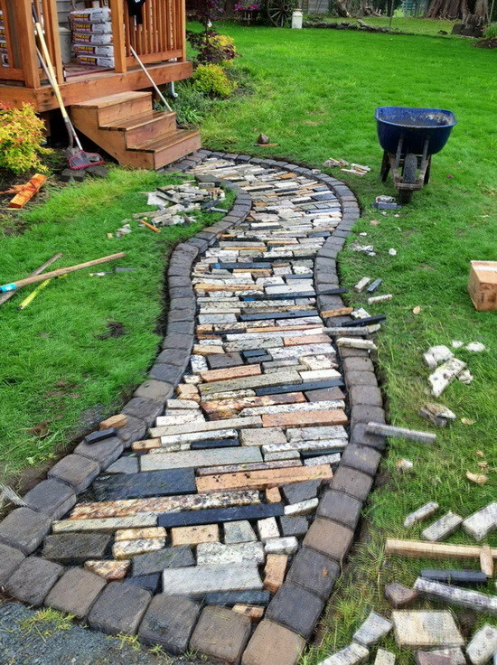 Backyard Pathway Ideas 25 lovely diy garden pathway ideas 09 10 Diy Garden Path Ideas How To Make A Garden Walkway