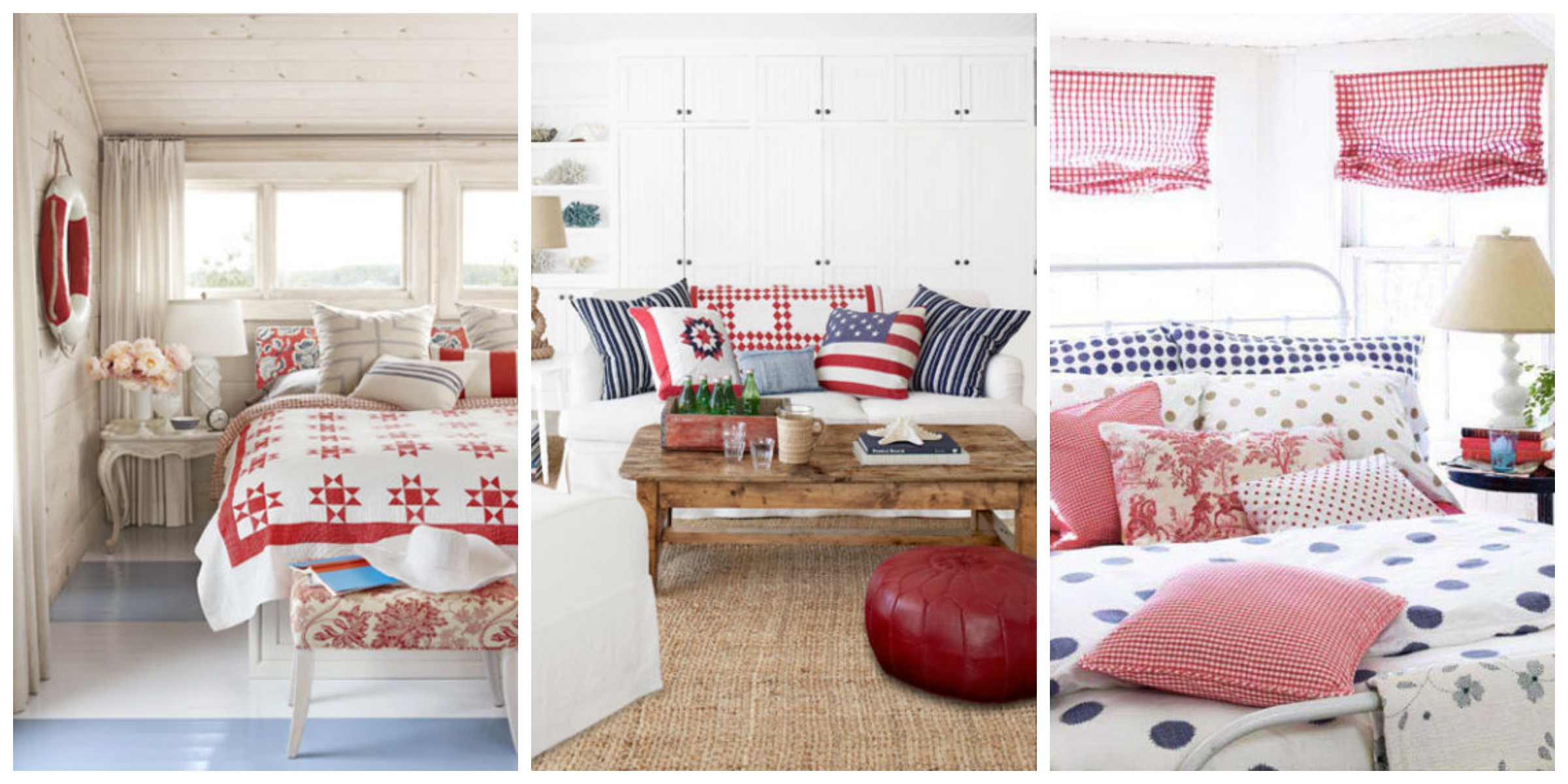 patriotic decor 4th of july red white and blue