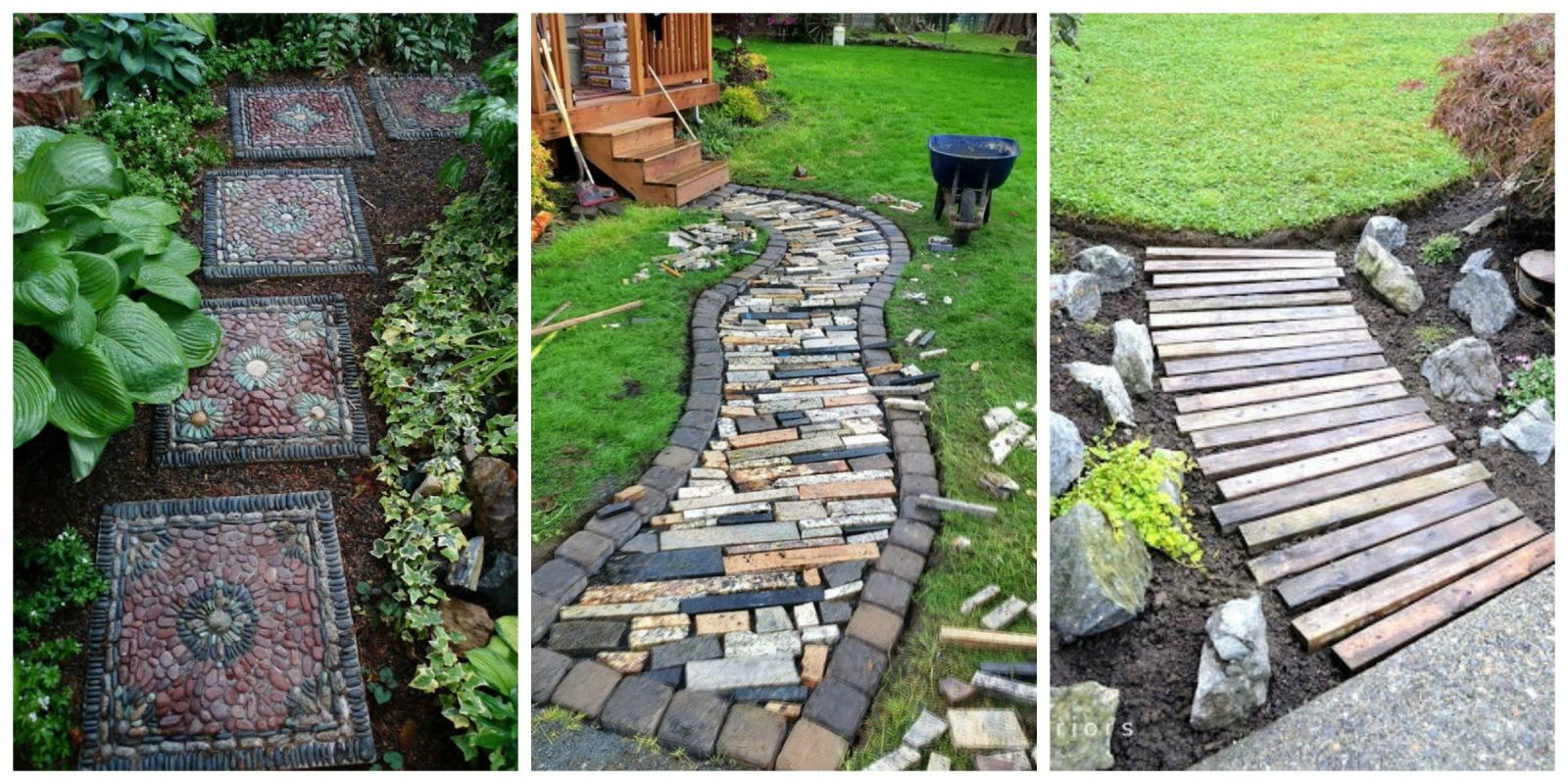 10 diy garden path ideas how to make a garden walkway for Easy garden path ideas
