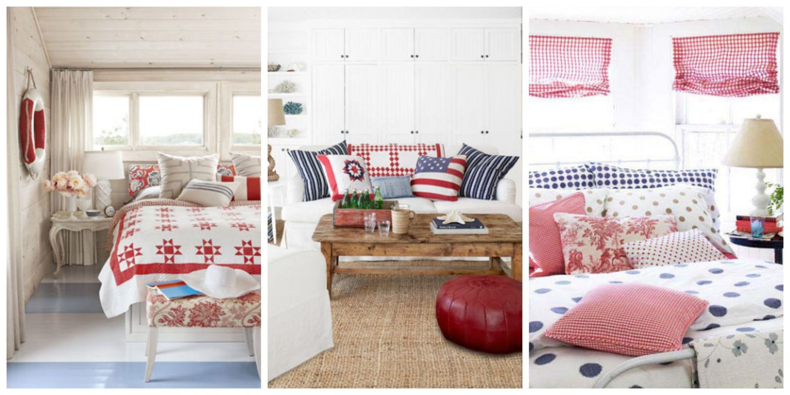 Patriotic Decor - 4th of July Red White and Blue Decorating Ideas