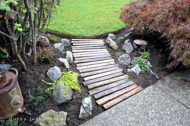 Backyard Pathways 10+ diy garden path ideas - how to make a garden walkway