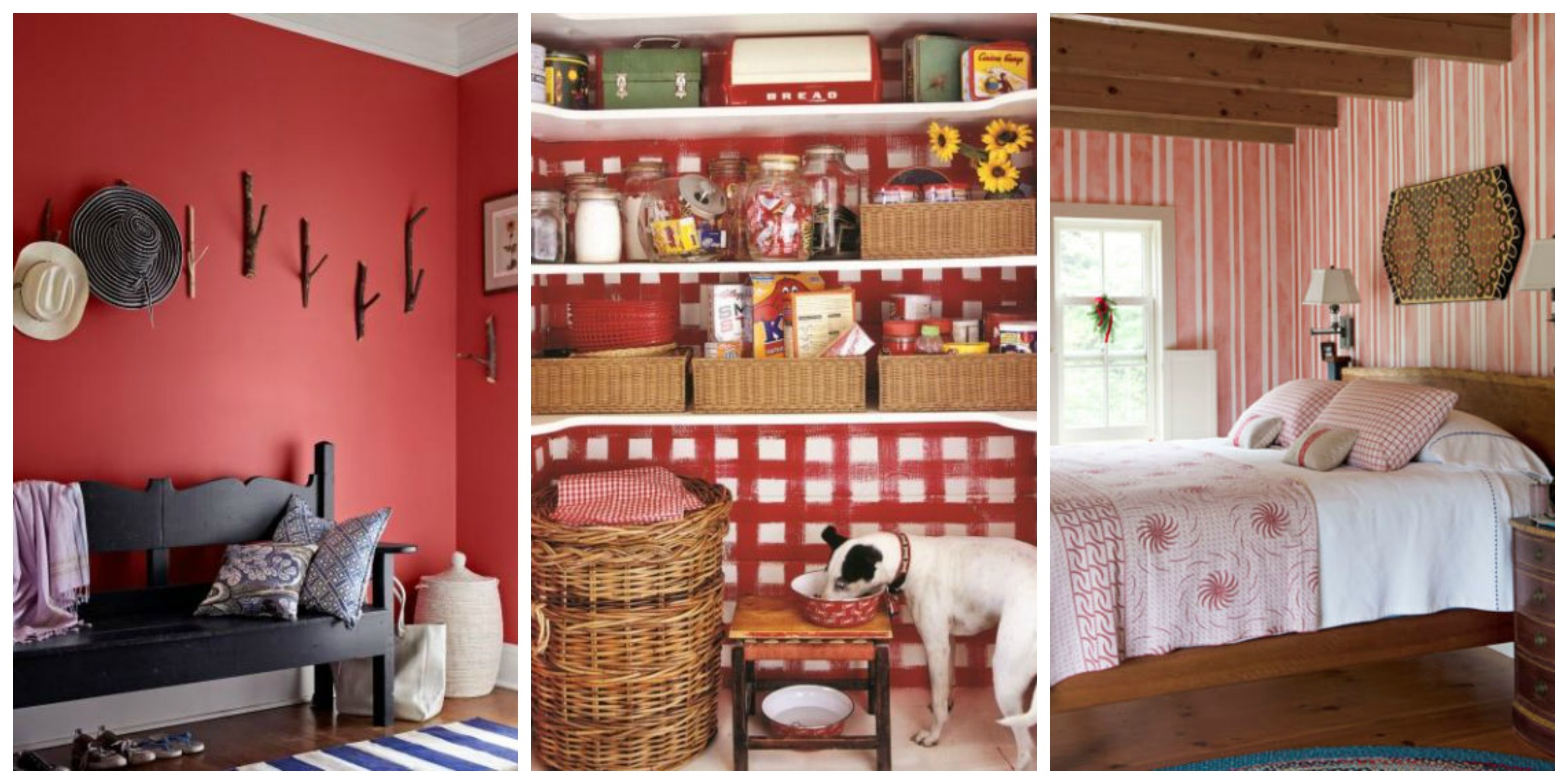 Decorating with red ideas for red rooms and home decor - Home color decorating ideas ...
