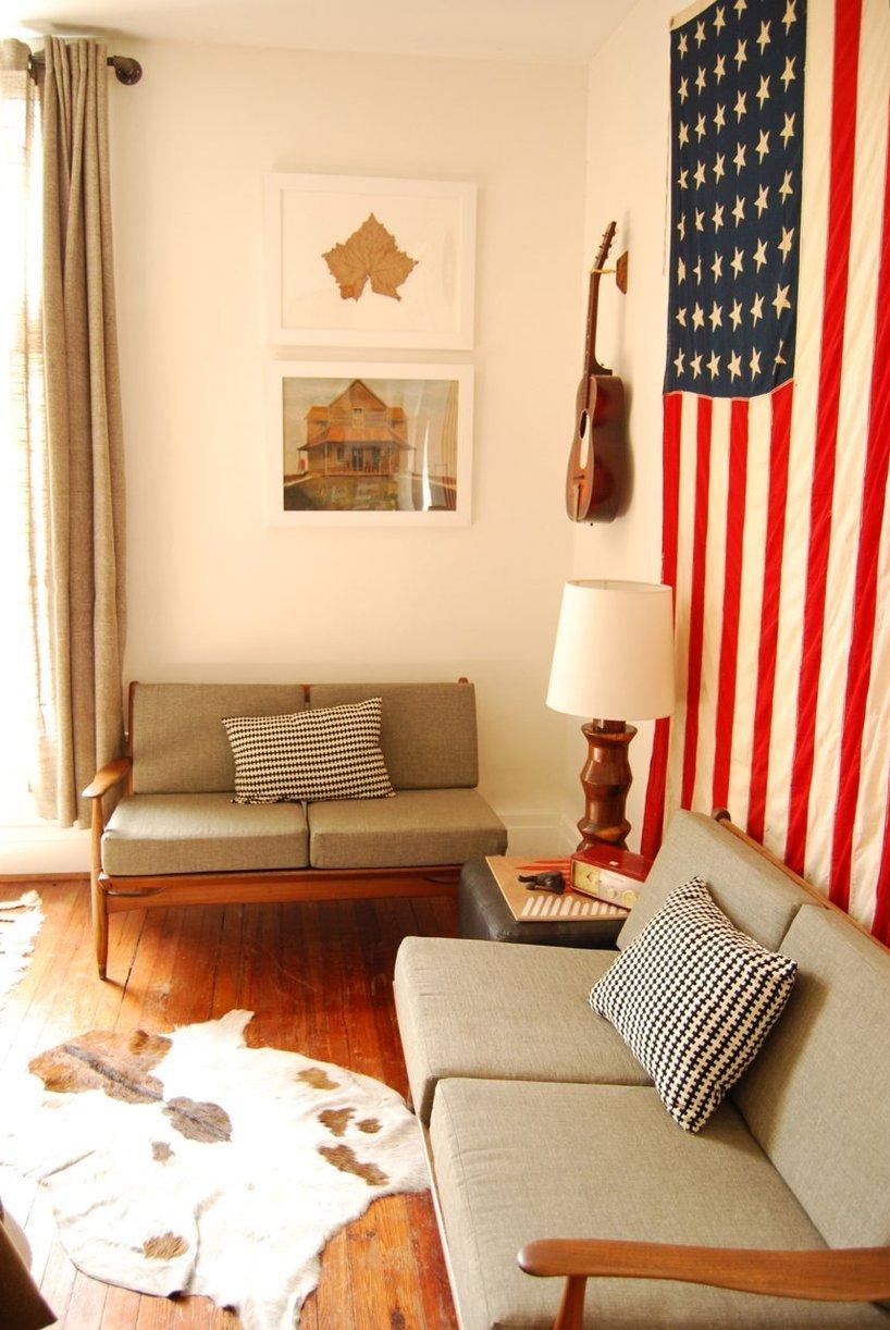 Patriotic Bedroom Americana Home Decor Antique Flags