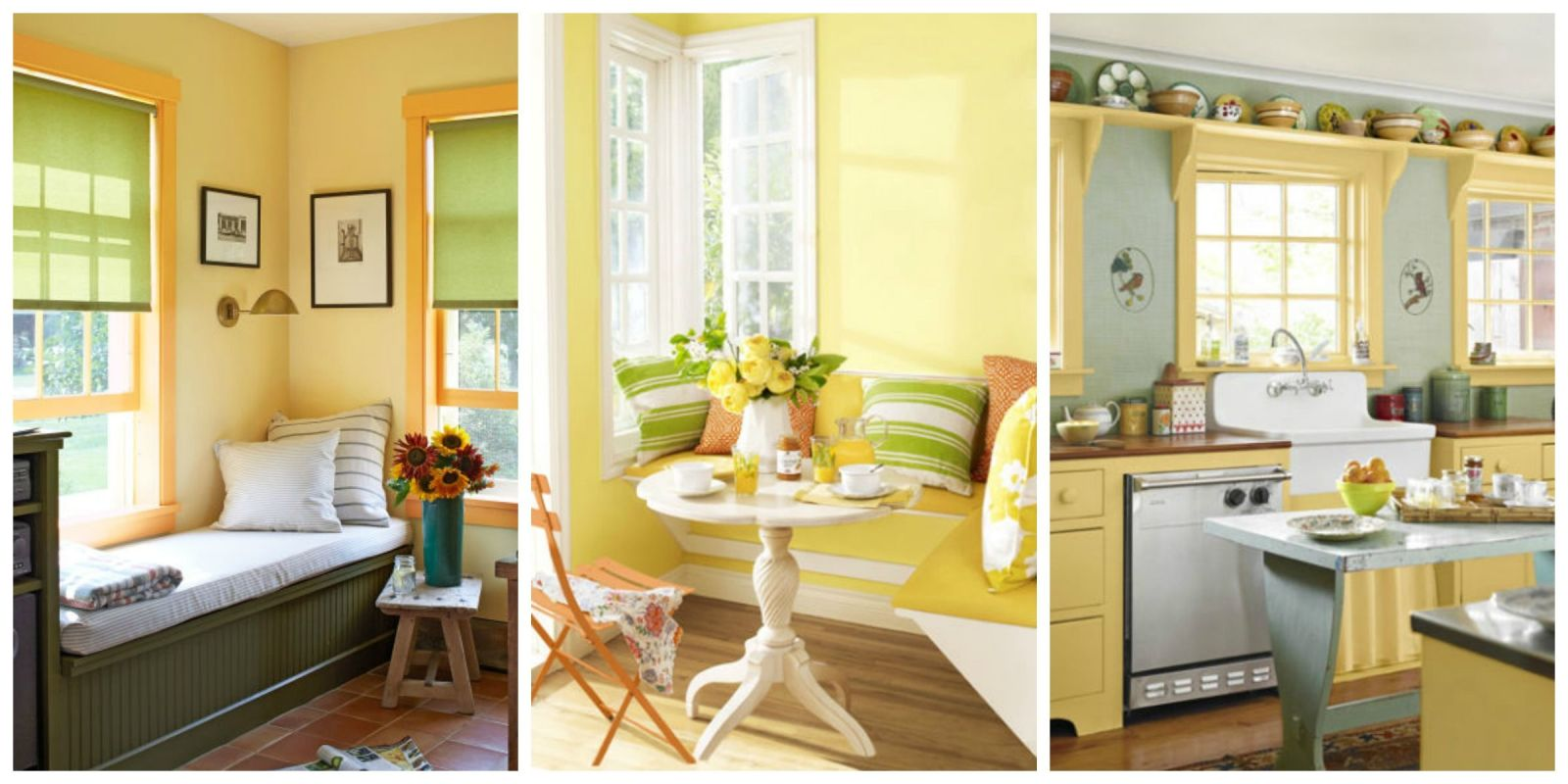 Yellow decor decorating with yellow for Home decor yellow walls