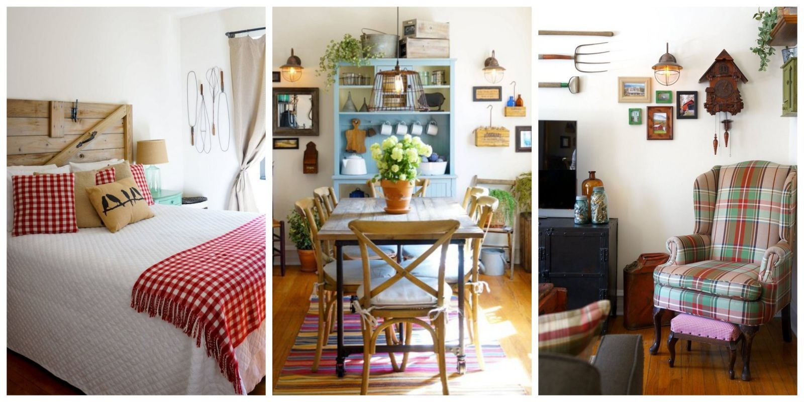 We 39 re crushing on the primitive country decor in this city apartment farmhouse decorating ideas - Home deco ...