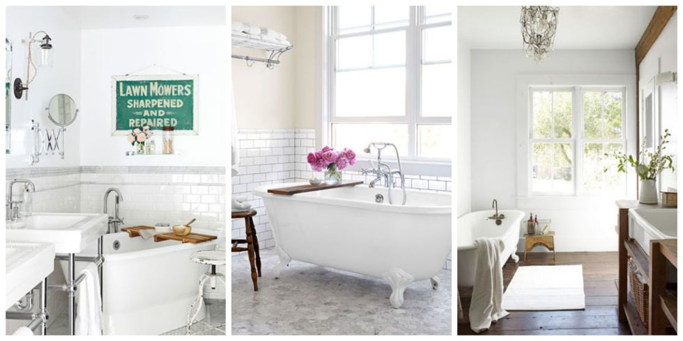 30 White Bathroom Ideas - Decorating with White for Bathrooms